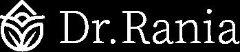 Dr Rania Logo, white version.
