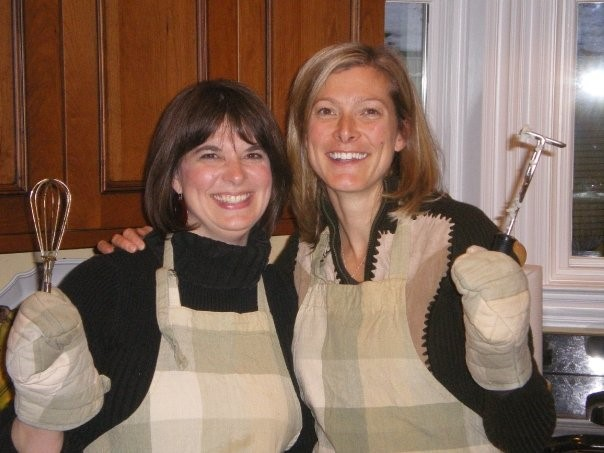 Cooking at Thanksgiving with my sister